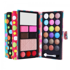 Fashion Makeup Eyeshadow Palette 26 Colors, Eye Shadow+Blusher+Lip Gloss+Powder cake +Eyebrow powder pink