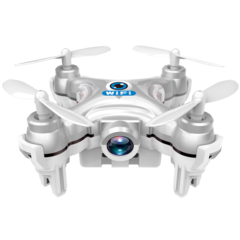 CX-10W 6 Axis 4CH Gyro iOS /Android APP Wifi Romote Control RC FPV Mini Quadcopter with 0.3MP Camera SILVER CX
