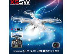 X5SW Wifi FPV Real-time 2.4GHz RC Quadcopter Drone UAV RTF UFO with 0.3MP Camera White cx
