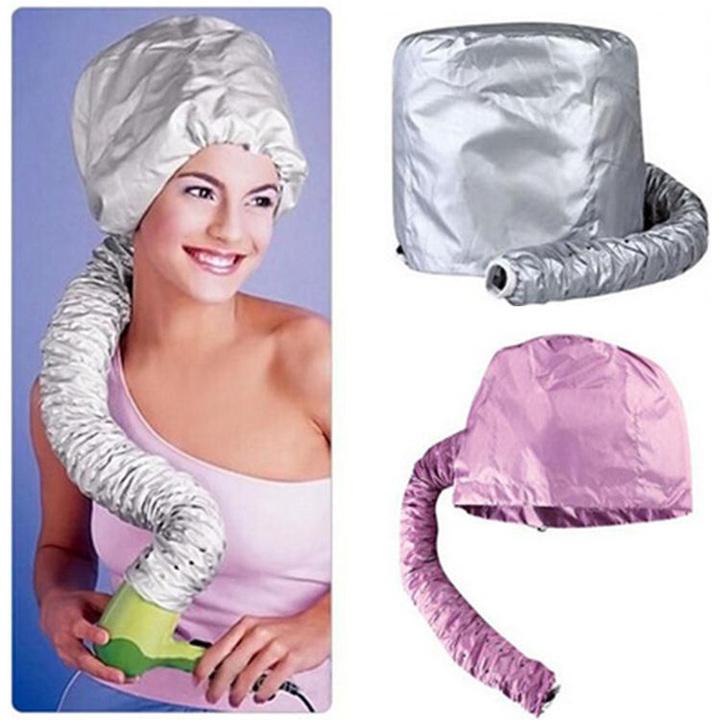 Home Portable Hair Dryer Diffuser Bonnet Attachment Hair Diffuser Hair Dryer Bonnet Soft Cap silver universal
