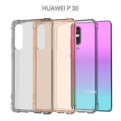 Shock Resistant Protective Slim TPU Bumper Case for Huawei P30 Bumper Case - Corner Cushion clear Transparent