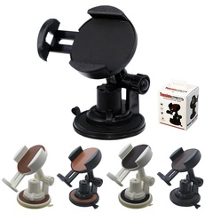 Adjustable 360 Degree Rotation Car Phone Holder Mount for Huawei TECNO iPhone Samsung Infinix ect Black ABS