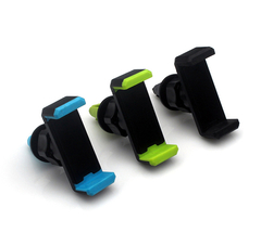 360 Degree Rotation Car Air Outlet Cellphone Mount Holder Bracket for Mobile Phone black abs