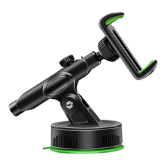 Center Console Phone Bracket Car Suction Cup Telescopic Rod Mobile Phone Holder Stand for PhoneS GPS green abs