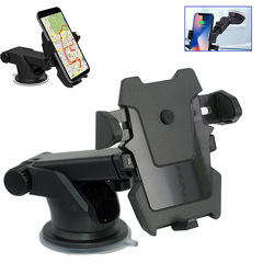 Universal 360°Rotations & Adjustable Car Mount Holder iPhone, Long Neck One Touch Car Mount Holder black abs
