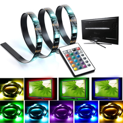 Color Changing 5050 RGB LED Strip Light Kit For TV Screen Back And Flat Screen LCD, Desktop PC Color