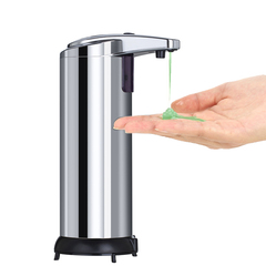 Infrared Motion Sensor Stainless Steel Touchless Automatic Soap Dispenser with Waterproof Base sILVER ABS