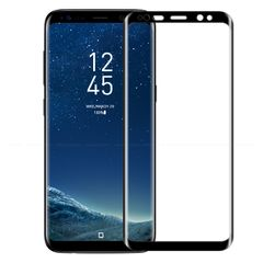 For Samsung Galaxy S9 S8 Plus Tempered Glass 3D Curved Full Cover Protective Glass Screen Protector Black for S8