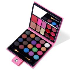 32 Colors Eyeshadow Palette All in One Makeup Kit - Eye Shadow+Blusher+Lip Gloss+Powder+Concealer Pink