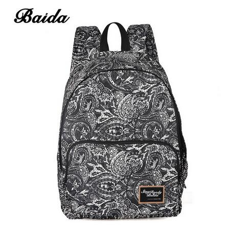 755929cf8a Fashion Printing Backpacks Women Canvas Print Pink Backpack Bag black  normal  Product No  1311610. Item specifics  Brand