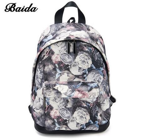 463f59d69b BAIDA Fashion Women Backpacks Cool Floral Print Laptop Travel Leisure  Backpack for Bookbag Rucksack black rose normal  Product No  1322060. Item  specifics ...