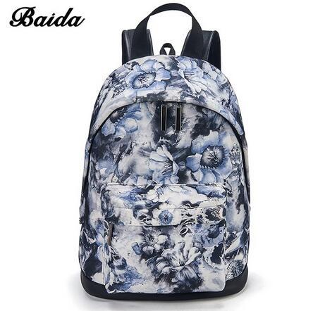 ca941f1aff BAIDA Fashion Women Backpacks Cool Floral Print Laptop Travel Leisure  Backpack for Bookbag Rucksack blue rose normal  Product No  1322062. Item  specifics ...