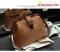 Warmroom 2017 New Retro Doctor Bag Satchel Handbag Shoulder Bag Nubuck Leather SEVEN COLORS brown f