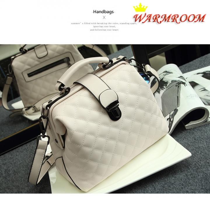 Warmroom 2017 New Retro Doctor Bag Satchel Handbag Shoulder Bag Nubuck Leather SEVEN COLORS white f
