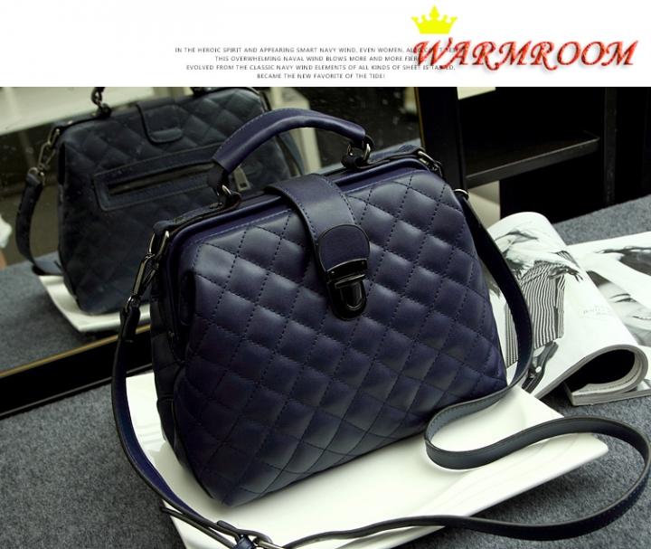 Warmroom 2017 New Retro Doctor Bag Satchel Handbag Shoulder Bag Nubuck Leather SEVEN COLORS oxford blue f