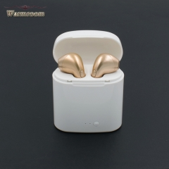 JUMEI Fashion Mega Bass Bluetooth Headset In-Ear Wireless Earphone Mini Ear Plugs Mobile Accessories white