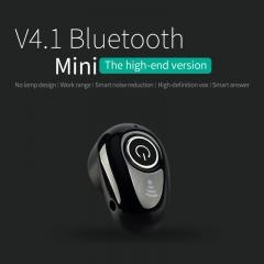 JUMEI New Mini Bluetooth Headset Wireless Invisible In-Ear Sport Stereo Earphone black