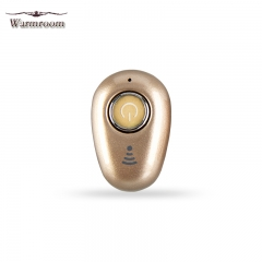 Warmroom New Mini Bluetooth Headset Wireless Invisible In-Ear Sport Stereo Earphone gold