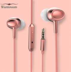 Warmroom In-Ear Mobile Phone Headset Ear Plugs Bass Music Earphone 4 Colors pink