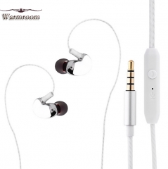 JUMEI Hot Selling Sports Headset In-Ear Heavy Bass Earphone Cool Mobile Accessories silvery