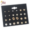 JUMEI 12 Pairs/Set Exquisite Gril Earrings Heart-Shape Diamond Pearls Ear Studs Women Jewellery Kit Gold s