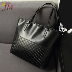 JUMEI 2019 Hot Selling Women Handbags  PU Leather Bags  Single Shoulder Ladies Bags 3 Colors black s