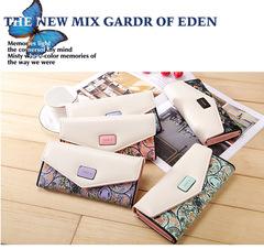 JUMEI 2018 Hot Selling Flower Button Luxurious Wallet Quality PU Leather Bag Korean Women Handbag black s