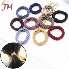 JUMEI 20 Pcs Elastic Hair Bands Ponytail Holders Headband Fashion Hair Accessories For Women Girl colorful 1#