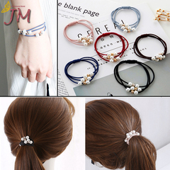 JUMEI 9 Pcs Large Ponytail Holders Headband Elastic Women Hair Bands Rubber Band Simply Hair Ties Colorful 1#