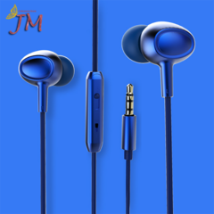 JUMEI Fashion In-Ear Phone Headset Sport Ear Plugs Bass Music Earphone Mobile Accessories 4 Colors blue