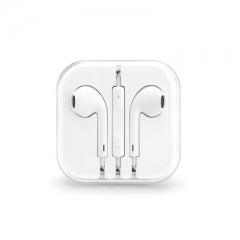 In-ear headphones, wired Earphones with  Volume Control 3.5mm Plug,Lightweight white