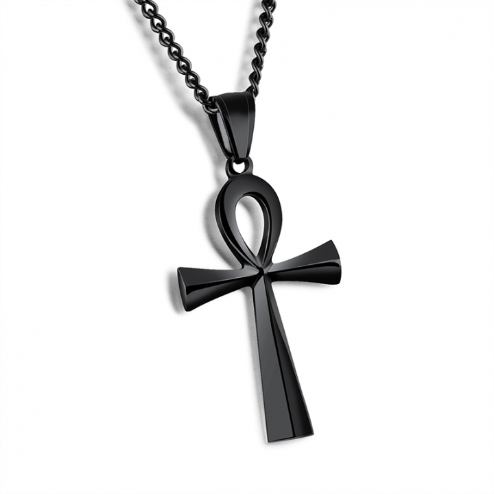 Cross pendant necklace black normal