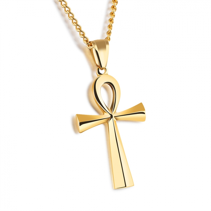Cross pendant necklace golden normal