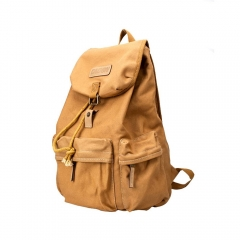 Men's Multi-purpose Outdoor Travel Canvas DSLR Camera Bag Casual Backpack Khaki Normal