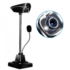 M800 USB 2.0 Wired Webcams PC Laptop Camera LED Night Vision With Microphone black normal