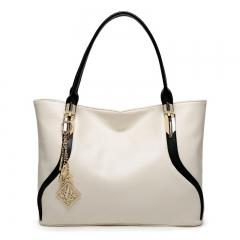 New Fashion Handbags For Ladies Shoulder Bag Shopping  handbags Tote Bag White and Black white one size