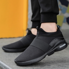 Running Shoes Men New Style Breathable Sneakers Men Light Sport  comfortable casual Shoes black 39