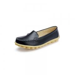 Fashion Women Flats Leather Platform Casual Shoes  Ladies Shoes Soft Comfortable Shoes black 35