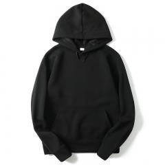 Men's Hoodies Sport Fleece Hip Hop Letter Basic Long Sleeve Hooded T-shirt black M