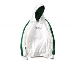 Mens wear Hip Hop Hoodies Youth College Hoody Long Sleeve Pullover  Winter Solid Men's Sweatshirt white M