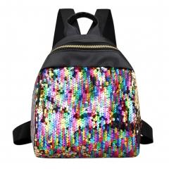 Women Sequins Backpack  School Bags for Teenage Girls Student  Travel Bags Mini Ladies Backpacks multi one size