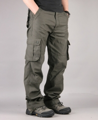Pants Men's Cargo Pants Casual Multi Pocket Military Overall Men Outdoors High Quality Long Trousers army green 34