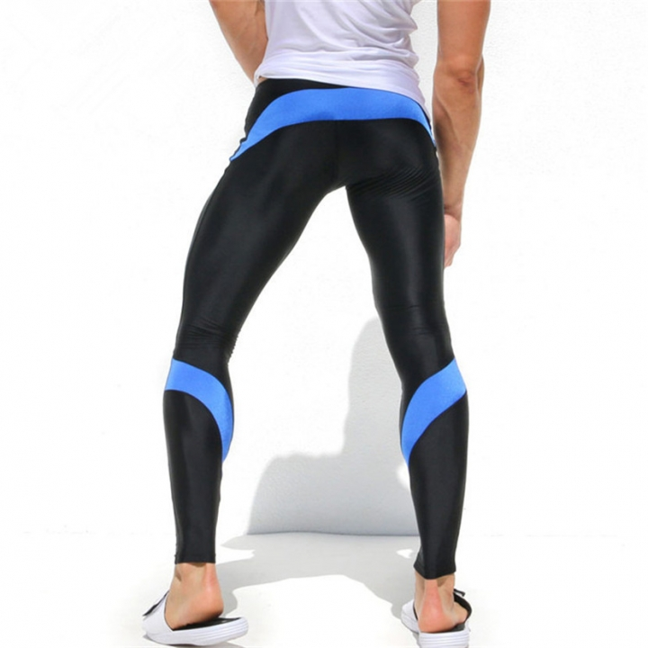 Mens Joggers Tight Pants Compression Pants Ankle Length Pants Male Trousers  Casual Sweatpants Skinny blue M 6f4b4ffd387c