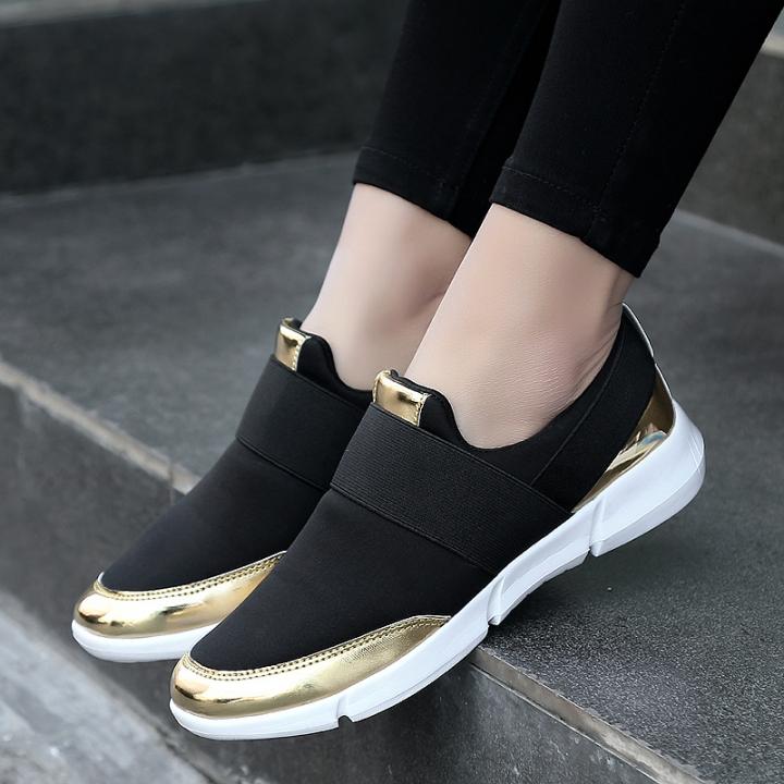 bf4af165e392 Women Casual Shoes Female Platform Shoes Slip On Women Flat Tenis Feminino Casual  Ladies Shoes black