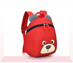 Cute Children's Backpack Lovely Cartoon Animal School Bags For Boys Girls Kindergarten Bag red one size