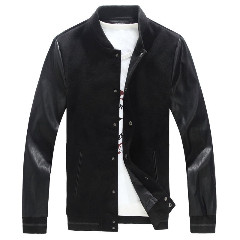 Fashion Mens Jacket PU Pachwork Korean Slim Fit Mens Designer Clothes Men  Cotton Jacket Plus Size black 6XL  Product No  1433751. Item specifics   Brand  4c3dfa7c93bb