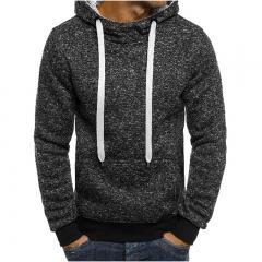 Fashion Mens Hoodies Brand Men Solid color Sweatshirt Male Hoody Hip Hop Autumn Winter  Pullover dark grey M