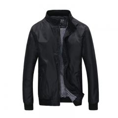 Mens Spring Summer Jackets Casual Thin Male Windbreakers College Bomber Black   Jacket Plus Size black M