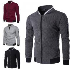 Men's Hoodies Zipper Design Mens Jacket Coat High Quality Mens  Sweatshirt Brand Clothing Jacket dark gray S