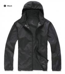 Men/Women Quick Dry Skin Jackets Coats Ultra-Light Casual Windbreaker Waterproof Windproof  Clothing black XS
